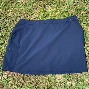 COLUMBIA PFG OMNI- FREEZE NAVY SKORT SZ 12